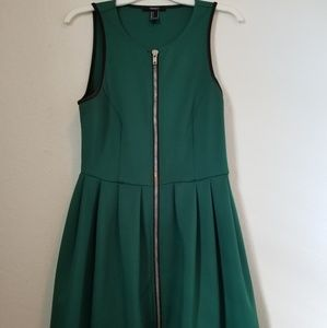 Forever21 Scuba Knit Zippered Fit n Flare Dress